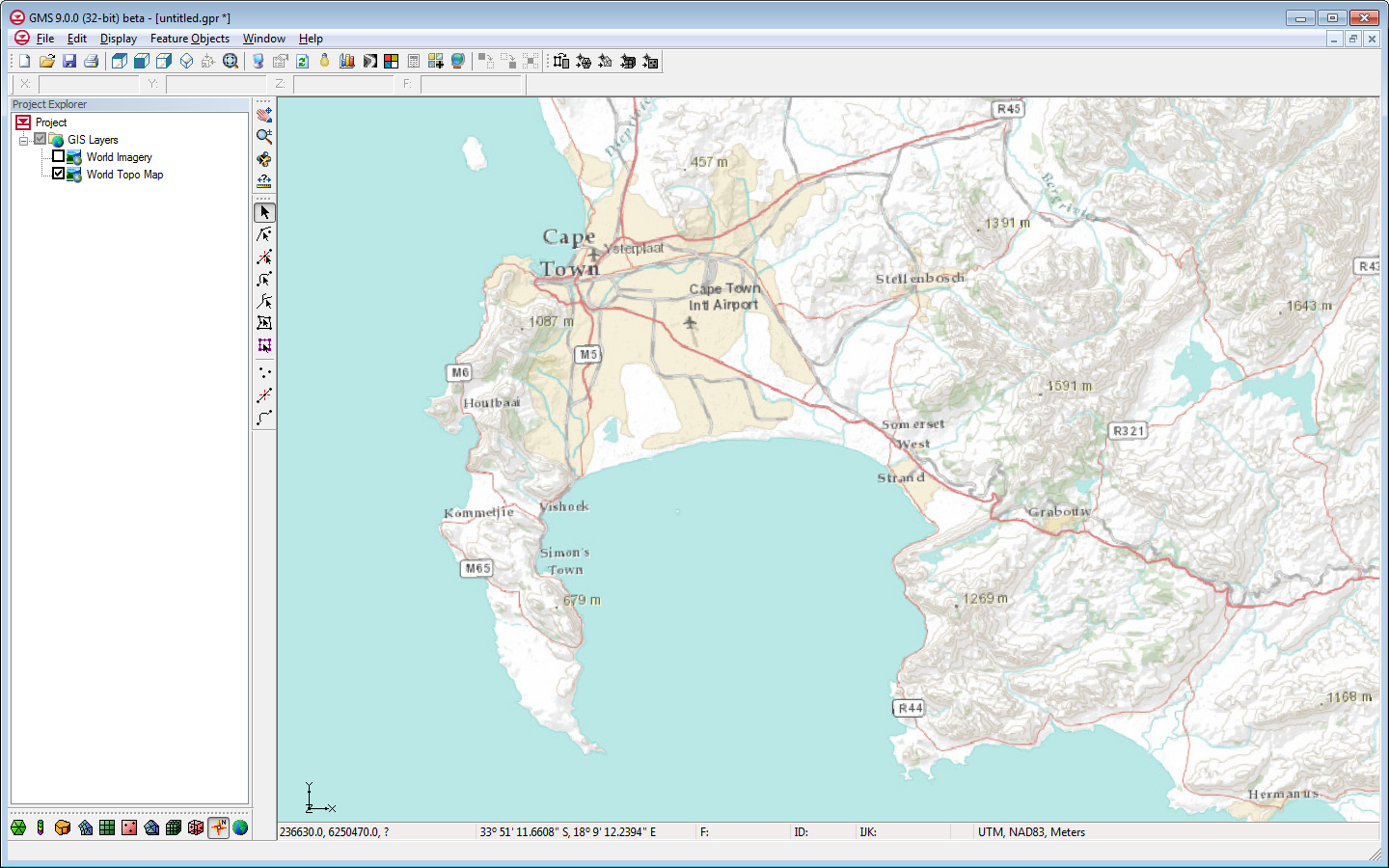 Online maps aquaveo gms showing a world topo map online map gumiabroncs Images