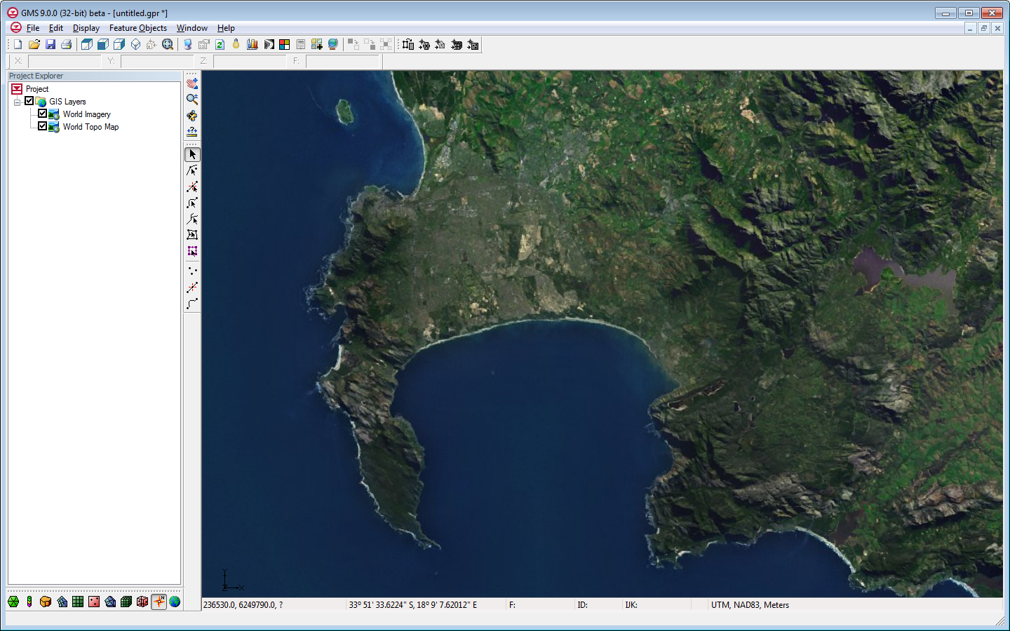 Online maps aquaveo gms showing a world imagery online map freerunsca Gallery