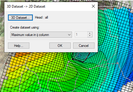 3D dataset to 2D dataset