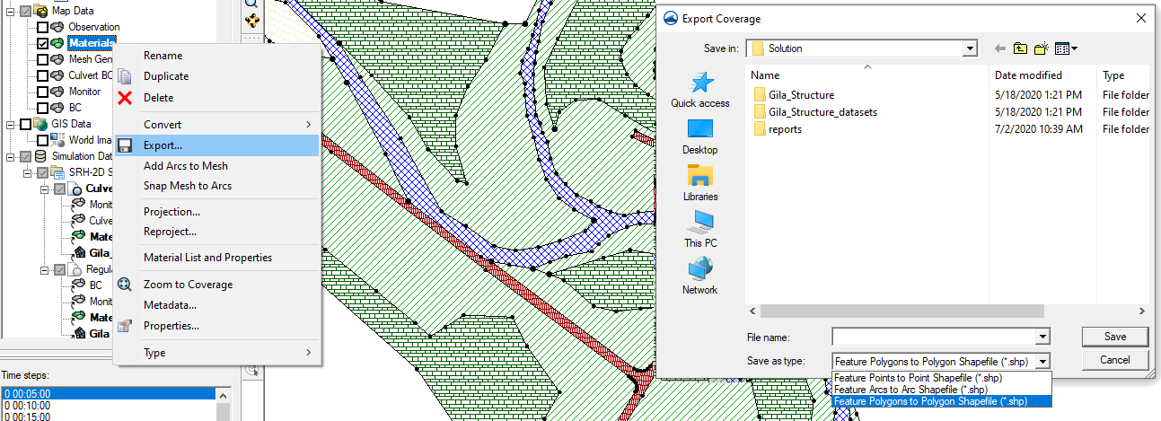 Exporting a coverage to a shapefile