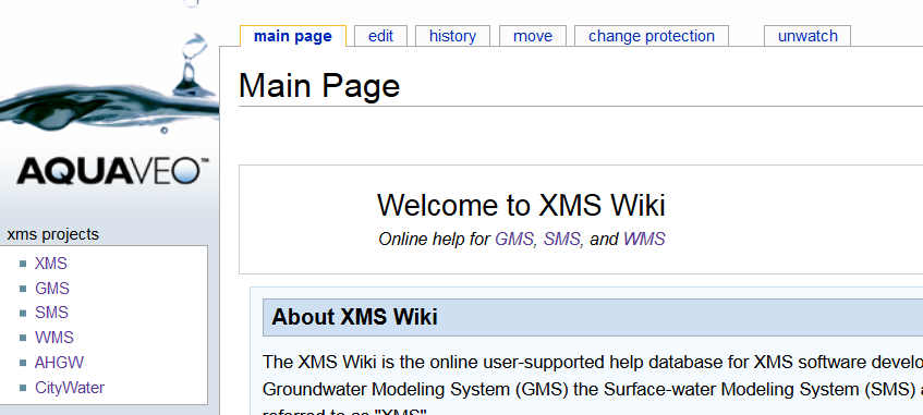 Example of the XMS Wiki