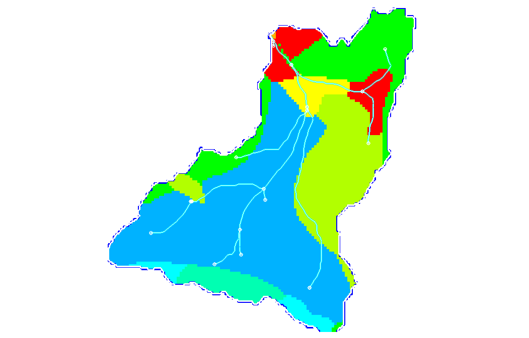 Example of a land use shapefile