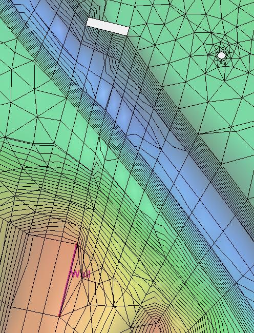 Examples of no flow boundaries in SRH-2D