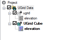 Multiple UGrids in the Project Explorer