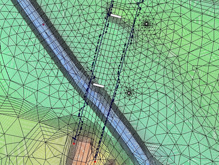 SHR-2D monitor lines snappingto mesh nodes