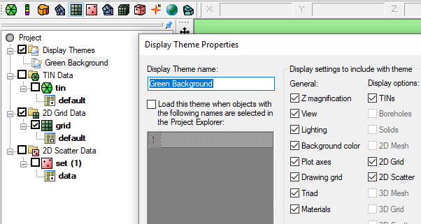Display Theme Example