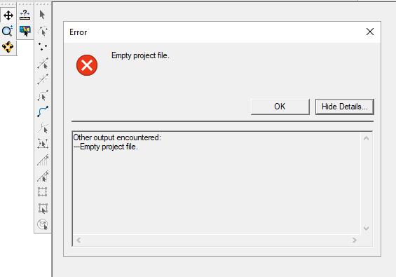 Project load error