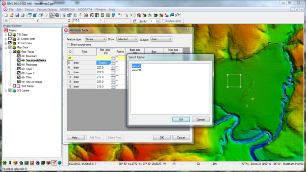 Map to MODFLOW Raster
