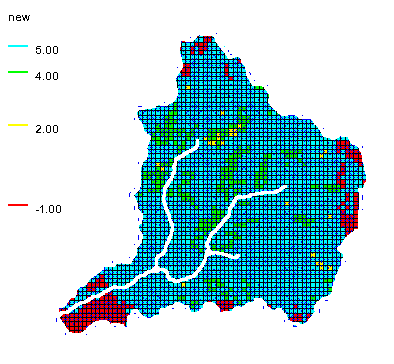 Soil data converted to an index map