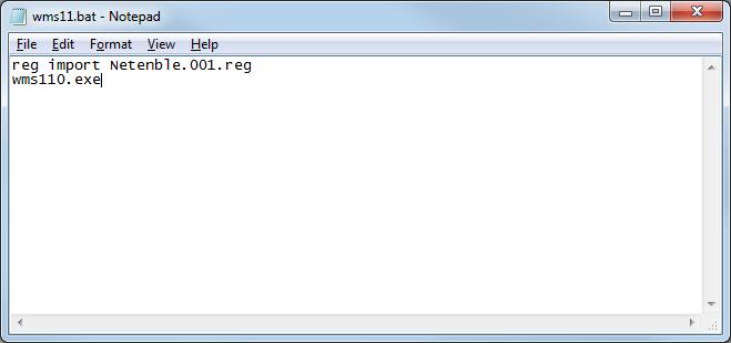 import registry key silent batch file